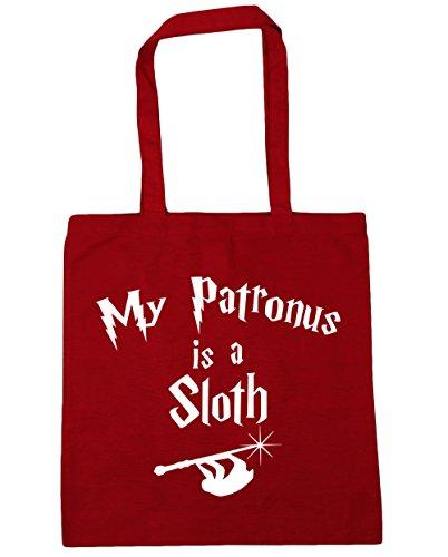 HippoWarehouse My Patronus Is A Sloth Tote Shopping Gym Beach Bag 42cm x38cm, 10 litres Classic Red