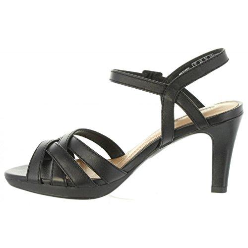 Caviglia alla con Leather Adriel Donna Black Wavy Scarpe Clarks Cinturino Nero YBXSqq