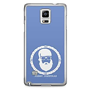 Blue Santa Badge Samsung Galaxy Note 4 Transparent Edge Case - Christmas Collection