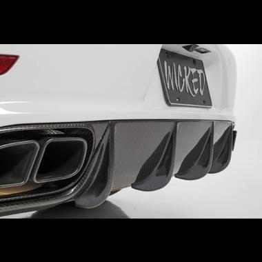 Porsche 991 Turbo & Turbo S Carbon Fiber rear lower fin Diffuser