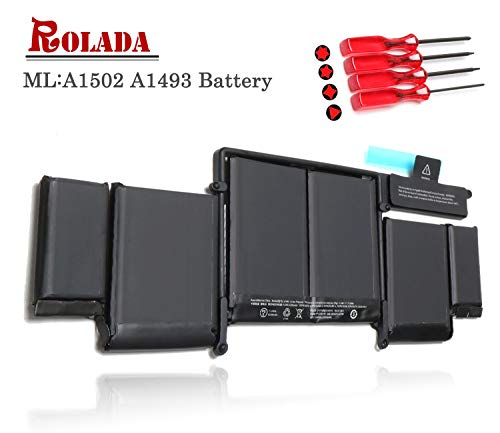 - A1493 New Laptop Battery for Apple A1502 ME864LL/A ME866LL/A; MacBook Pro 13