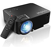 Roadwi 1500 Lumens LCD Mini Projector,Portable Multimedia Home Theater Projector for Home Entertainment, Support HD 1080P for Outdoor Movie Night DVD Player Laptops TV Box with HDMI USB SD Card VGA AV