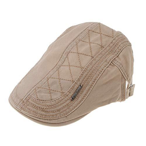 Baosity Gorro Plano De Algodón Sombrero De Golf Taxista Ocasionla para  Otoño Invierno - Caqui 5642f6c33c0