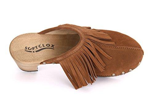 Softclox S3341 Halma cognac - Zuecos para mujer Marrón - marrón