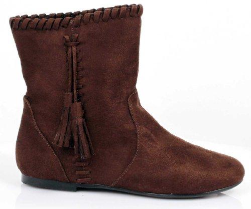 Ellie Shoes Kids Native American Indian Costume Brown Ankle Boots Medium (Indian Costume Boots)