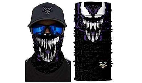 3D Venom Superheroes Sun Mask Tube Neck Face Scarf Lower Half Face Motorcycle Bicycle Shield Sun Air Soft Outdoor Biker Riding Masks No.194 ()