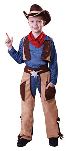 Party Central Boys Cowboy Fancy Dress Costume Age 4 - 9 (8-9 Years) (Cowboy Outfit Kids)