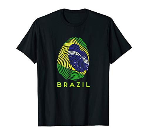 I Love Brazil Fingerprint Brazilian T-Shirt