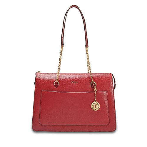 Saffiano DKNY Tote Char Leather DKNY Red Leather Scarlet Char Bag 5wtvqn