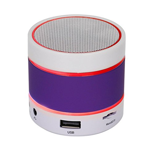 Price comparison product image Mchoice LED Bluetooth Wireless Speaker Portable and Rechargeable TF Card For iPhone (Purple)