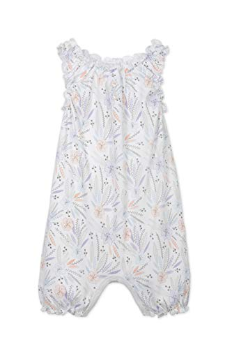 Feather Baby Girls Clothes Pima Cotton Sleeveless One-Piece Sunsuit Bubble Shortie Baby Romper