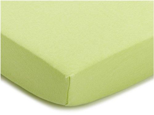 Julius Zöllner 8320113340 - Spannbetttuch Jersery für Kinderbett, Größe: 60 x 120 cm/70 x 140 cm, Farbe: grün