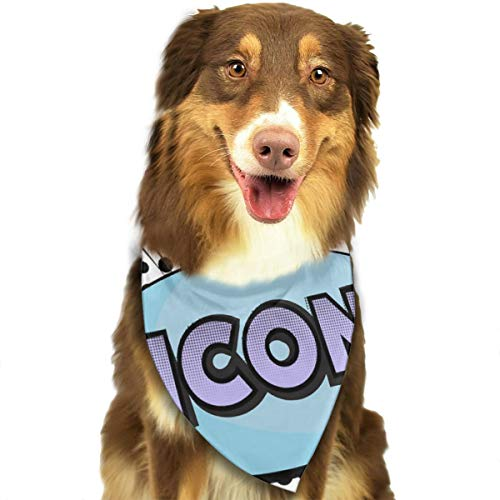 Sourde Customized Icon Classic Pet Dog Scarf Washable Adjustable Triangle Pet Scarf Bow, Suitable For Small And Medium Pets