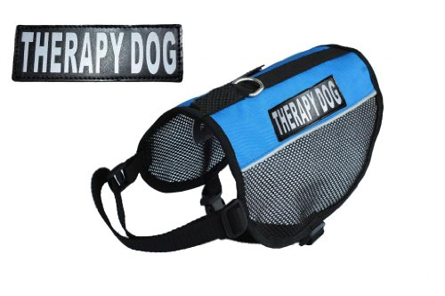 Therapy Service Dog mesh vest Harness Cool Comfort Nylon for