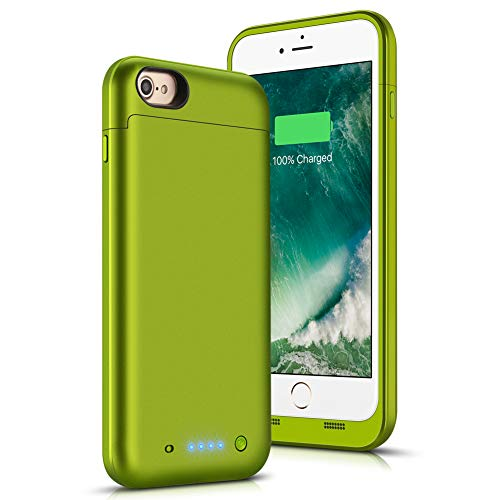 iPhone 6 Plus / 6S Plus Battery Case, SHENMZ Ultra Slim 6800mAh Protable Extended Backup Battery Charger Case Rechargeable Power Bank Charging Case for iPhone 6s Plus / 6 Plus 5.5