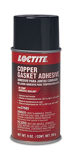 Loctite 502911 Copper Gasket High Temperature Adhesive Sealant Aerosol Can, 9-oz.