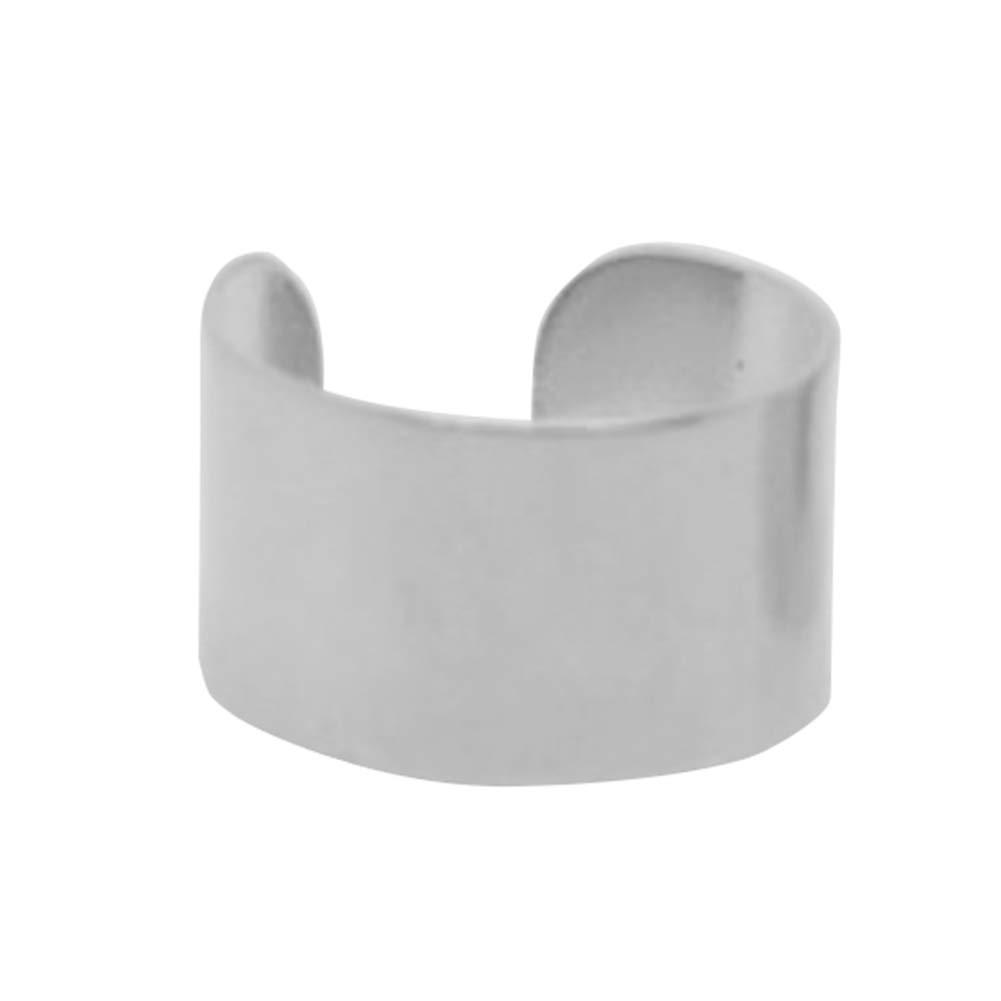 Earrings Gloa 1Pair Simple Ear Cuff Clip-on Non Piercing Earrings Women Punk Party Jewelry - Silver