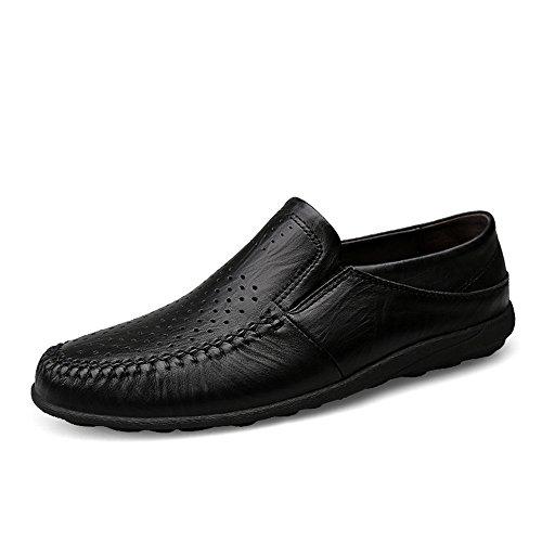 Conducir 9 Uk Suela Formales Incluso Informales Para Suave Eventos Suaves Hollow Zapatos O De Son Refrescantes Resbaladizos Reddish Fiestas Black Y Piel No Brown Casuales shoes Jiuyue nfXgqSx