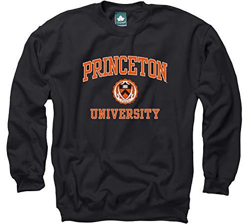 Ivysport Princeton University Crewneck Sweatshirt, Crest, Black, Small