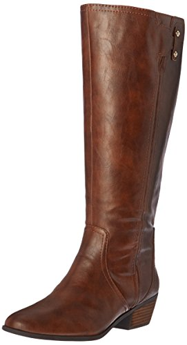 Dr. Scholl's Women's Brilliance Wide Calf Riding Boot, Whiskey, 8 M (Brown Calf Footwear)