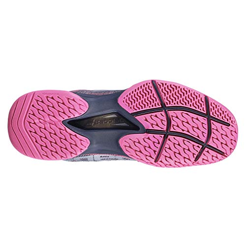 Ii All Babolat Women Pantofole Allcourt da tennis 42 Scarpe Jet Mach Bianco Surfaces Rosa qIHwfx