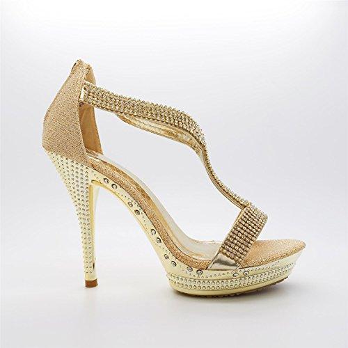 London Footwear ,  Damen Plateau Gold