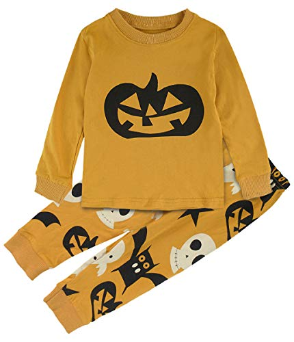 A&J DESIGN Boys Girls Funny Halloween Pumpkin Pajamas Sets PJS ()
