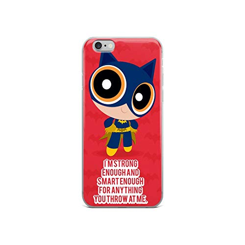 iPhone 6/6s Case Anti-Scratch Animated Cartoon Transparent Cases Cover Power Batgirl Cartoons Caricature Crystal Clear -