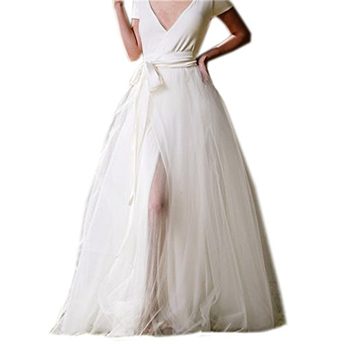 Lisong Women Floor length A-line Tulle Party Engagement S...