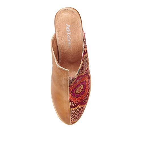 Women's Half Mule Leather 902 Brocade Antelope Taupe AqFBdZdnw