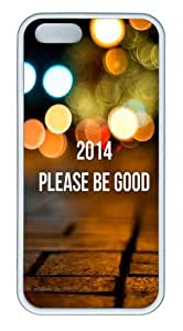 2014 Please Be Good TPU Silicone Rubber iPhone 5 and iPhone 5S Case Cover - White by icecream design