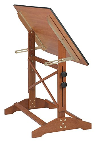 Alvin Pavillon Art and Drawing Table Cherry Melamine Top 24'' x 36'' AP436 WBR by Alvin