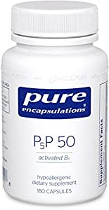 Pure Encapsulations - P5P 50 - Activated Vitamin B6 to Support Metabolism of Carbohydrates, Fats, and Proteins* - 180 Capsules