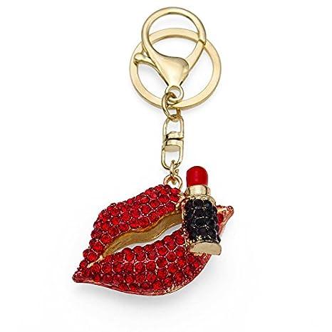 Amazon.com: Rojo sexy labios con forma de labios brillantes ...