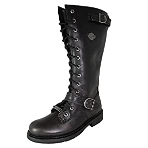 Harley-Davidson Women's Jill Motorcycle Boot, Black, 9 M US