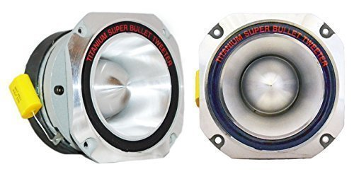 -2- QuestAudio Pro Series 3000W Titanium 4' Bullet Car Pro Super Tweeter PT-01
