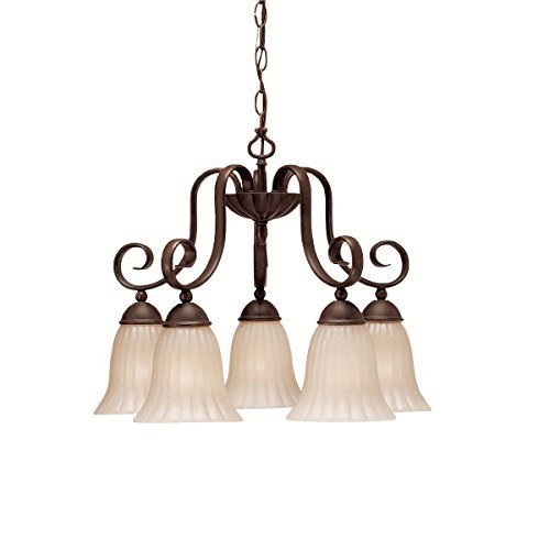 Kichler Lighting 1826TZ 5 Light Willowmore Downlight Chandelier, Tannery Bronze by Kichler Lighting by Kichler Lighting