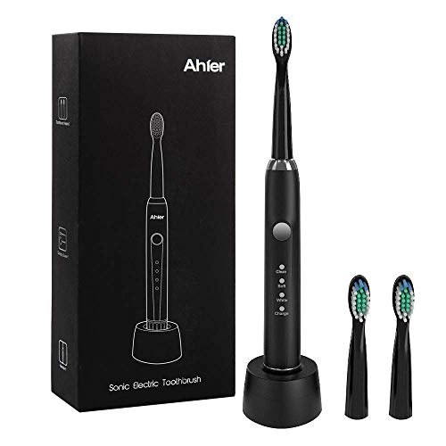 Electric Toothbrush, Sonic Rechargeable Toothbrush for Adults, 3 Optional Modes with 2 Min Build in Timer, Waterproof, USB Fast Charging