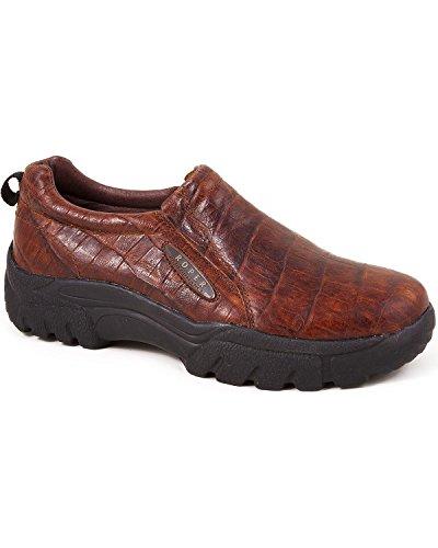 (ROPER Men's Performance Croc Print Slip-On Shoes Round Toe Redwood 10 D(M) US )