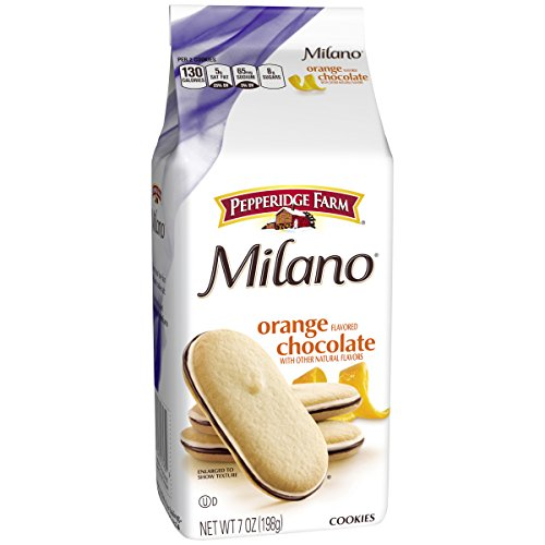 Pepperidge Farm, Milano, Cookies, Orange, 7 oz, Bag, 24-count (Chocolate Orange Cookies)