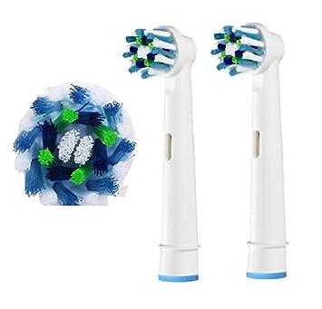 Bluelover Cabeza Eléctrica Del Cepillo De Dientes De La Acción Cruzada Del Reemplazo Eb50 4Pcs Para Braun Oral-B: Amazon.es: Hogar
