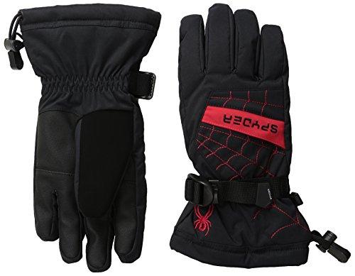 Spyder Boys Overweb-Ski Gloves, Black/Formula, Large