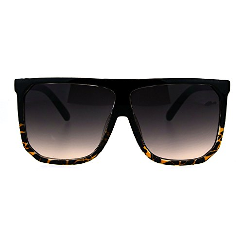Oversized Style Sunglasses Flat Top Square Modern Fashion UV 400 - Top Glasses Flat