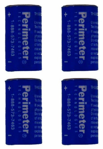 Perimeter Technologies Four Pack Perimeter Pet Fencing Dog Collar Batteries by (4-Pack)