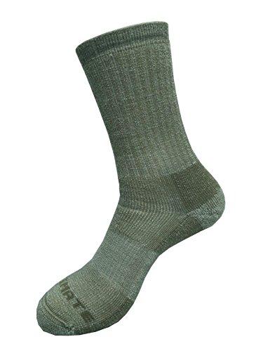 Ultimate Socks Merino Wool Midweight Hiker Crew Sock Brown -
