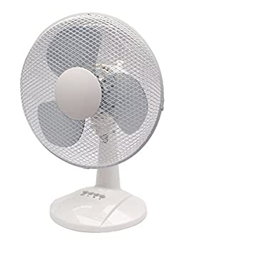 Q Connect 230mm/9 inch 2 Speed Desktop Fan KF00402