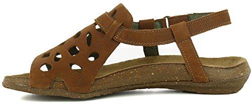 Leather Sandals Velcro 42 Wood Wakataua Pleasant N5064 Woman qtOpFqx