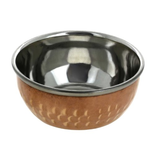 [Copper Dinnerware Bowl - Indian Handmade Tableware Accessory Utensils - Dia 3.4 Inches] (Cute Halloween Gifts For Coworkers)