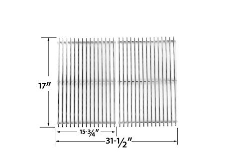 Bass Pro Grill - Stainless Steel Replacement Cooking Grid for Select North American Outdoors Bass Pro Shops XH1510, XH1510, Kenmore XH1510 and XPS DXH-8501, XH1510 Gas Grill Models, Set of 2