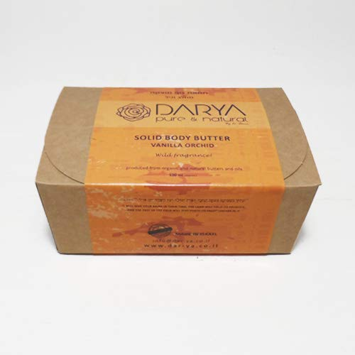 Darya's Solid Body Butter Natural From the Holy Land with Shea Butter 3.3 OZ (VANILLA ORCHID)